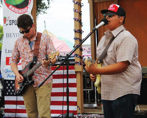 Members of the Pedro Ramirez Band from Graham entertained the crowd.