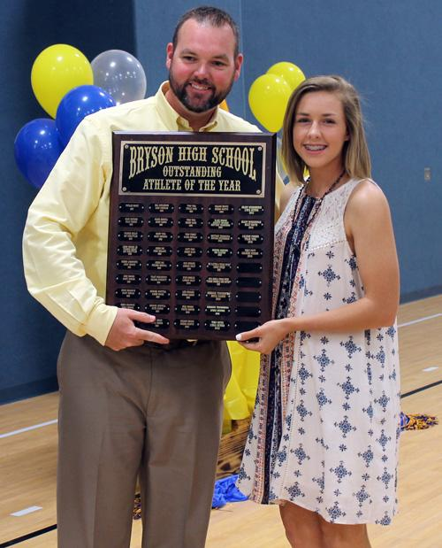Caleigh Forbus received the Outstand Female Athlete of the Year Award.