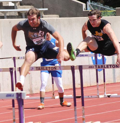 Perrin-Whitt's Derek Ray won the 110-meter hurdles and has qualified for State.