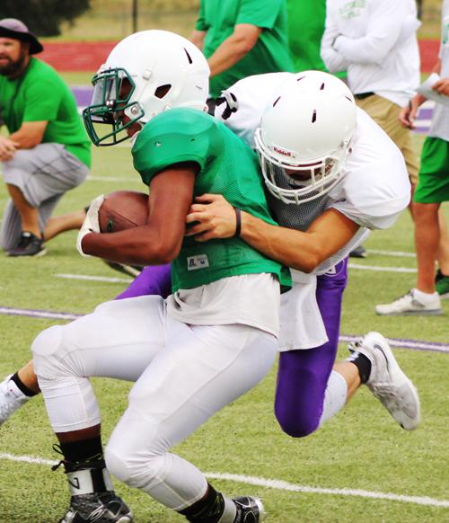 Jacksboro and Breckenridge had their first scrimmage last weekend. Tiger Coach Brian Hodnett said he saw enough positive things to know his squad is on the right track.