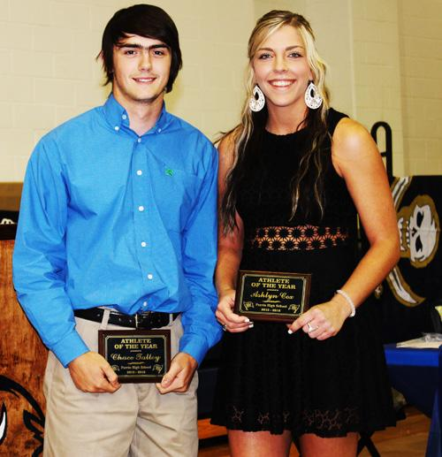 Chace Talley and Ashlyn Cox were named Athletes of the Year