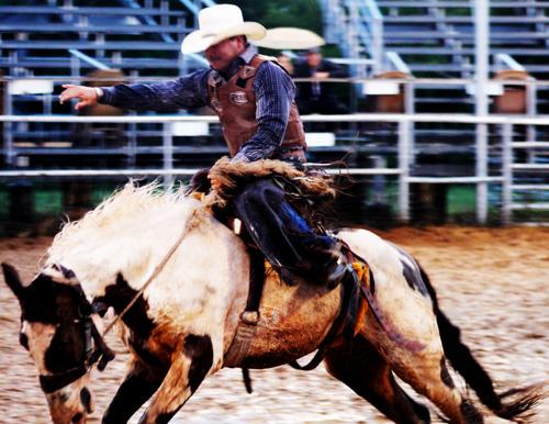 Rodeo fans came out in the ran and much Thursday to enjoy the 61st Jack County Sheriff's Posse Rodeo