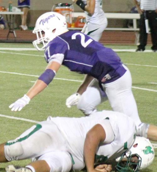 Hunter Hackley (27) is one of Jacksboro's players to watch in Dave Campbell's Texas Football.