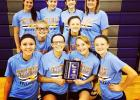 JMS 8 'A' volleyball team wins the Kick it for Kasey Tournament.